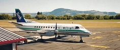 Air New Zealand Link Rotorua Airport, image Fraser Weir Saab 340, Air New Zealand, Airports, Spacecraft, Aviation, Aircraft, Colours, Classic, Link