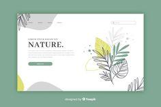 Hand drawn nature landing page template Free Vector Web Design, Graphic Design Tips, Blog Design, Layout Design, Powerpoint Design Templates, Presentation Design Template, Adobe Illustrator, Web Inspiration, Graphic Design Inspiration
