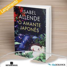 """#Lancamento """"O amante japonês, da autora Isabel Allende"""" é uma história de abandono e redenção.  Uma paixão secreta que surge em 1939, ano da ocupação da Polônia pelos nazistas e, décadas depois, descobre-se que perdurou por quase setenta anos. Conheça a emocionante história de Alma Mendel e Ichimei Fukuda, filho do jardineiro japonês da família. Vem pra Cia.!->"""