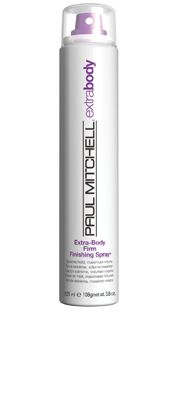 Extra-Body Firm Finishing Spray®  Extreme Hold, Maximum Volume    Provides all-day hold and maximum volume. Adds high shine, fullness and texture. Fights frizz in any climate and helps protect hair from sun damage.  Thickening ingredients grip every strand for added volume and texture. #paulmitchell #hair #hairproduct #hairdresser #crueltyfree