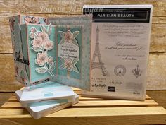 For the avid stamper, a Double Z Fold card showcasing the new Parisian Beauty and Forever Blossoms stamp sets from my presentation at OnStage 2019 in Hartford, CT. Created by Joanne Mulligan, Independent Stampin' Up! Making Greeting Cards, Greeting Cards Handmade, Paris Cards, Wink Of Stella, Stamping Up Cards, Scrapbooking, Catalogue, Small Flowers, Mini