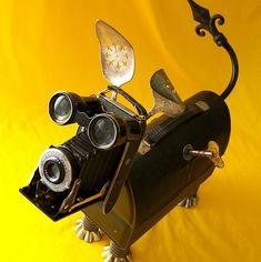 robot assemblage sculpture * JIGGLES - ROBOT DOG | by Reclaim2Fame