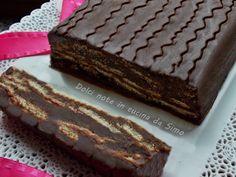 Mattonella al cioccolato Biscotti, Chiffon Cake, Gelato, Yummy Cakes, Buffet, Food And Drink, Sweets, Oreo, Cookies