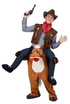 Carry Me Piggy Back Mascot Horse Fancy Dress Costume Stag Animal Farm Cowboy