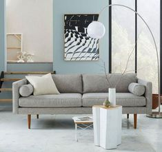 Midcentury-style Monroe sofa at West Elm