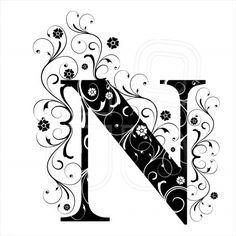 Letter N, alphabet, arabic, art Quilling Letters, Alphabet Wallpaper, Fancy Letters, Fancy Fonts, Free Art Prints, Monogram Alphabet, Clip Art, Vintage Typography, Letter Art