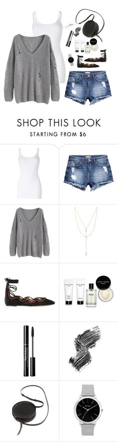 """Distressed Denim + Ripped Sweater"" by jillnmitchell ❤ liked on Polyvore featuring Splendid, H&M, Forever 21, Isabel Marant, Bobbi Brown Cosmetics, Illamasqua, Sara Barner and Paul Smith"