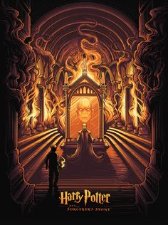 "pixalry: ""Harry Potter & The Sorcerer's Stone - Created by Dan Mumford"" Harry Potter Poster, Harry Potter Fan Art, Mundo Harry Potter, Harry Potter Universal, Harry Potter World, Hogwarts, Slytherin, Toujours Harry Potter, Dan Mumford"
