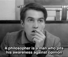 Jean-Pierre Léaud (as Paul) in Masculin féminin by Jean-Luc Godard Cinema Quotes, Film Quotes, Jean Pierre Leaud, Citations Film, French New Wave, Jean Luc Godard, Aesthetic Words, Movie Lines, Film Stills