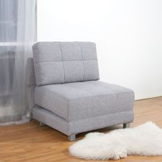 With a comfort-oriented design, this convertible chair bed is multifunctional and takes full advantage of any available space. The contemporary seating can be used as a chair, chaise or bed.