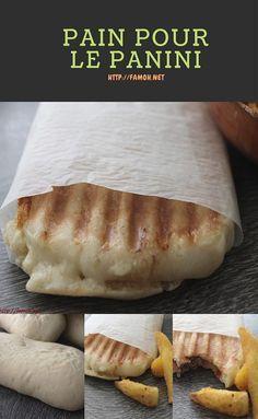 épinglé par ❃❀CM❁✿⊱Recette de pain pour le panini.