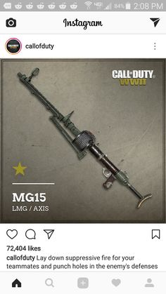 http://ift.tt/2sgamQf of duty posted this picture of the mg15 on instagram
