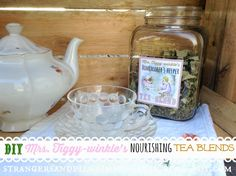 """Homemaker's Helper"" Herbal Tea ~ A Tiggy-winkle Tea Blend on Strangers and Pilgrims on Earth at http://strangersandpilgrimsonearth.blogspot.com/2015/05/homemakers-helper-herbal-tea-tiggy.html"