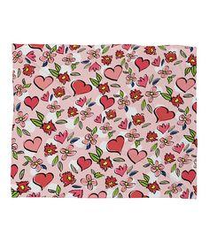 Look at this #zulilyfind! Lisa Argyropoulos Love Flowers & Dots Fleece Throw by DENY Designs #zulilyfinds