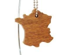Australia madera silueta llavero país esquema por OohLookItsARabbit