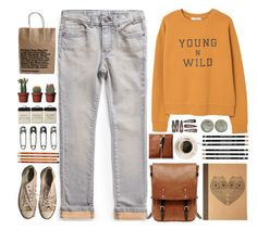 """""""Young, wild, American."""" by annaclaraalvez ❤ liked on Polyvore featuring Tim Holtz, MANGO, Converse, Ally Capellino and Forever 21"""
