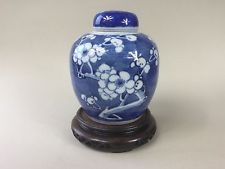 19th/20th Century Blue and White Prunus Blossom Ginger Jar