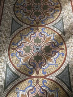 Mosaic floor at Brighton Museum - Mosaic - Mosaic floor at Brighton Museum