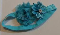 Aqua Flower Infant Headband by LilahBea on Etsy