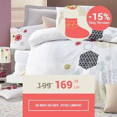 Lenjerie de pat din bumbac Valentini Bianco VKR10 Lucy (-15%)