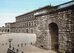 Pitti Palace in Florence (on the other side of the Ponte Vechccio). Neat building, cool art ( ho hum) but very impressive gardens. Skip the interiors and see the gardens. You could spend a whole day walking a barely see all the gardens have to offer.