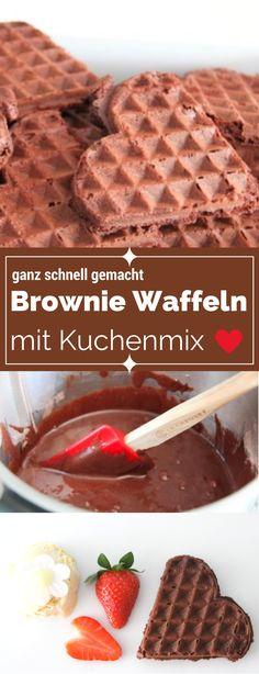 Soulfood mit Backmischung für eilige Bäckerinnen: Mein Brownies Rezept (deutsch). Ich habe lange gesucht nach der Brownie Backmischung, die man auch im Waffeleisen abbacken kann. Et voila - viel Spaß mit diesem Supergeheimtipp für Mütter, die nicht ganz so viel Zeit haben ;-)