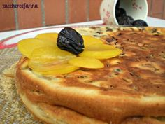 Torta light di prugne secche, senza olio, burro e lievito