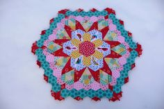 Rosette #1 in The New Hexagon Millefiore Quilt Along by Katja ...