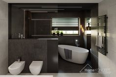 Projekt domu HomeKONCEPT-40 | HomeKONCEPT Bathroom Renovations, Bathtub, Black Bathrooms, Home Plans, Plants, Bathrooms, Bathing, Projects, Bath Tube