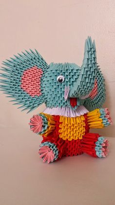 3d Origami elephant by akvees on Etsy