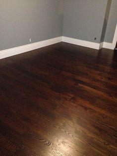 Dark oak floors