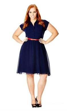 City+Chic+Pleat+Front+Belted+Shirtdress+(Plus+Size)+available+at+ SO beautiful! Curvy Fashion, Plus Size Fashion, Petite Fashion, Dress Fashion, Fashion Fashion, Womens Fashion, Plus Size Dresses, Plus Size Outfits, Dresses Dresses