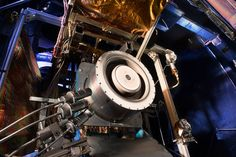 The Hall thruster is part of an SEP system that uses 10 times less propellant than equivalent chemical rockets.