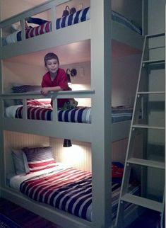 Bunk beds are space saving, functional and modern ideas for kids rooms