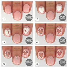 Negative Space Nails - 16 Heart-Screaming Nail Art Tutorials for Valentine's Day | GleamItUp