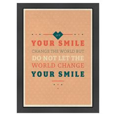 Your Smile Framed Print