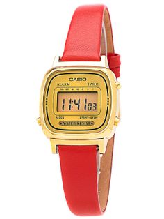 Solid Red Leather Limited Edition Wristwatch. #AmericanApparel