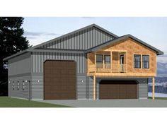 PDF house plans garage plans & shed plans. Garage Plans With Loft, Pole Barn House Plans, Garage House Plans, Pole Barn Homes, Small House Plans, Garage Ideas, Metal Pole Barns, Metal Garages, Garage