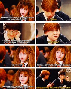 "I love Harry's face in the last panel. He's like ""Oh no she didn't"""