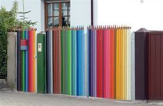 life sized colored pencil fence