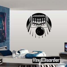Bowling Wall Decal - Vinyl Decal - Car Decal - Bl014
