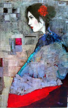 Richard Burlet / To Klimt Figure Painting, Painting & Drawing, Richard Burlet, Art Atelier, Image New, Foto Transfer, William Morris, Portrait Art, Portraits