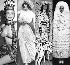 I especially like the giant tampon outfit on the right