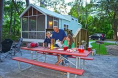 "New ""Camper Cabins"" Open at Skidaway Island State Park - Is glamping more your style? Yeah, us too. Now there's a new way to camp at Georgia State Parks thanks to the air conditioned  camper cabins at Skidaway Island State Park. Here's what you can expect:"
