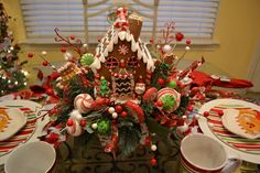 gingerbread tablescapes | Kristen's Creations: Gingerbread House Tablescape