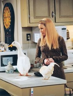 friends, phoebe buffay, and duck image Serie Friends, Friends Cast, Friends Show, Friends Scenes, Friends Moments, Friends Phoebe, Anne With An E, Phoebe Buffay, Friend Memes