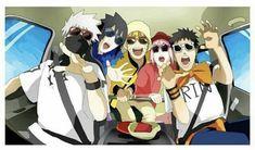 Kakashi Hatake, Sasuke Uchiha,Naruto Uzumaki Sakura Haruno,and Obito Uchiha. Otaku Anime, Anime Naruto, Fan Art Naruto, Naruto Comic, Naruto Cute, Anime Meme, Naruto Kakashi Funny, Kakashi Memes, Naruto Shippuden Sasuke