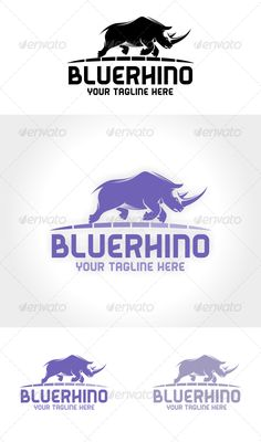 Blue Rhino Logo Template