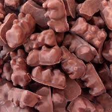 chocolate covered gummy bears  for animal themed snack table at a noah's ark baby shower