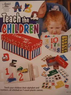 Teach the Children Plastic Canvas Book Alphabet Letters Plastic Canvas Patterns Plastic Canvas Numbers Annie's Attic Plastic Canvas Books Plastic Canvas Books, Plastic Canvas Stitches, Plastic Canvas Crafts, Plastic Canvas Patterns, Learning Toys For Toddlers, Teaching Kids, Kids Toys, Canvas Learning, Counting Books